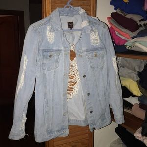 Jackets & Blazers - Distressed jean jacket